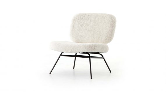 Picture of Four Hands Caleb Chair-ivory Angora
