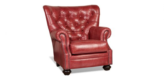 Picture of a red Legacy Baroness Chair