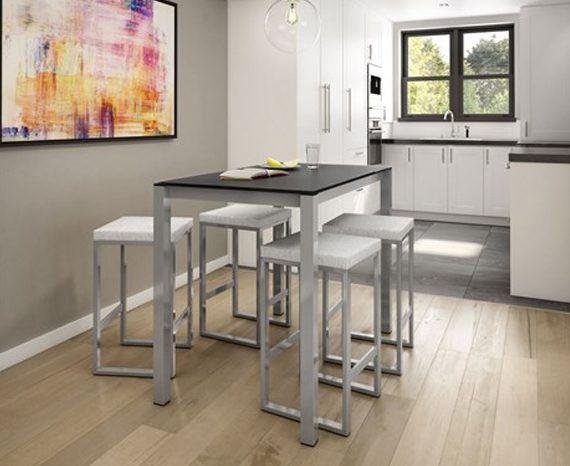 Lifestyle picture of a Amisco Aaron Bar Stool