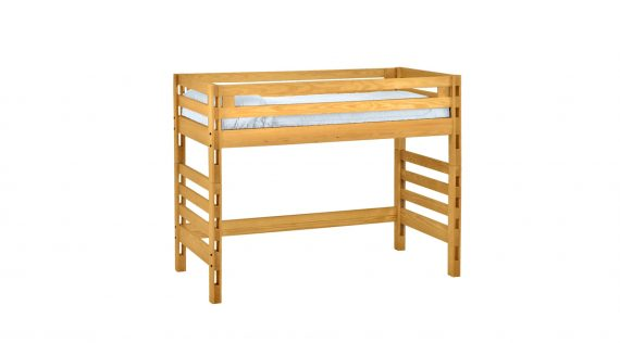 Picture of the Crate Ladder End Loft Bed - Twin Size