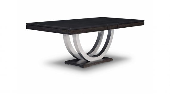 Picture of the Handstone Contempo Metal Curve Pedestal Dining Table
