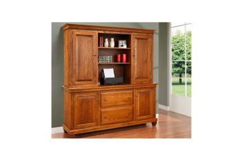 Picture of a Handstone Florentino Office Credenza w/Hutch