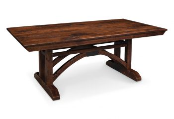 Picture of a Simply Amish B&O Trestle Bridge Dining Table