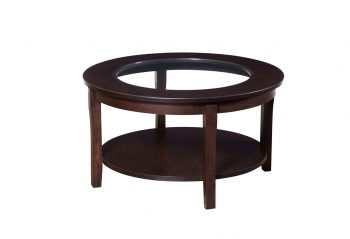 "Picture of the Woodworks 36"" Round Glass Top Coffee Table"