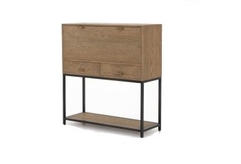 Picture of a Four Hands Jace Secretary Desk - Drifted Oak