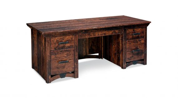 Picture of a Simply Amish B&O Trestle Executive Desk
