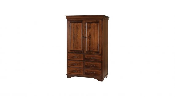Picture of a Woodworks Morgan 6 Drawer Armoire