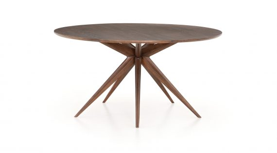 Picture of a Four Hands Round Dining Table - Acorn