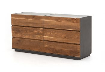 Picture of a Four Hands Holland Large Dresser - Dark Smoked Oak
