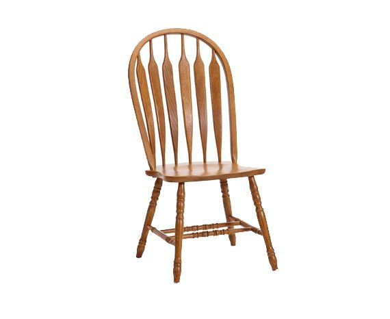 Picture of a Intercon Classic Oak Plain Arrow Back Side Chair