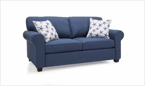 Picture of a blue sofa