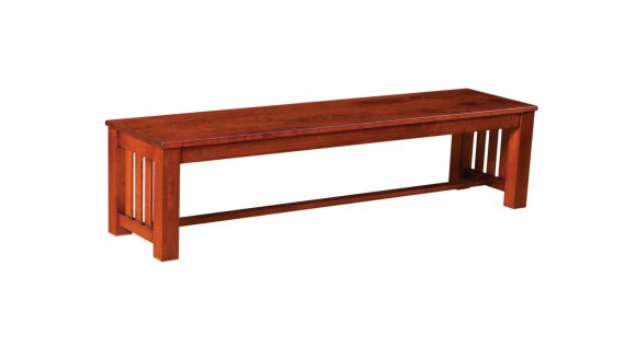 "Picture of a Woodworks Mission 60"" Wood Bench"