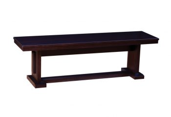 "Picture of a Woodworks Newport 60"" Wood Bench"