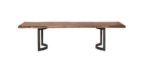 Moe's Bent Dining Table - Small Smoked