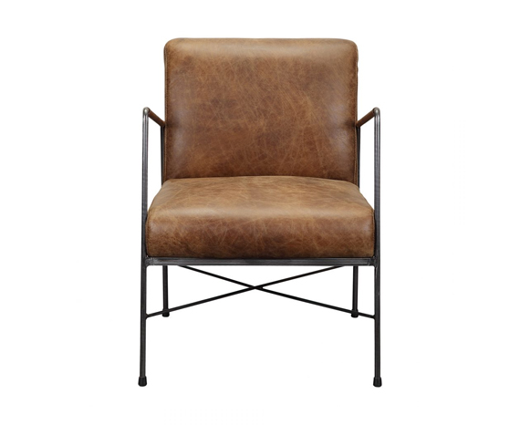DAGWOOD LEATHER ARM CHAIR BROWN Save
