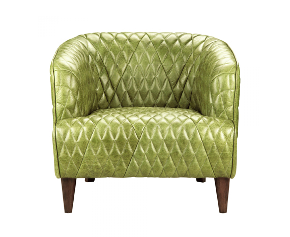 Moe's Magdelan Tufted Leather Arm Chair