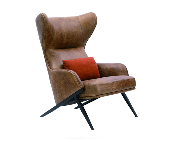 Moe's Amos Leather Accent Chair