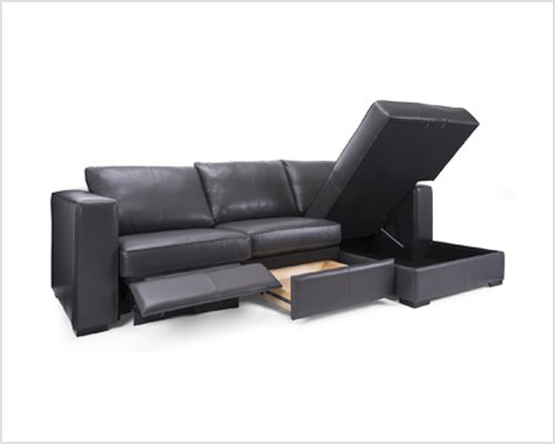 Leather Storage Sectional