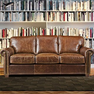 Picture of a leather sofa
