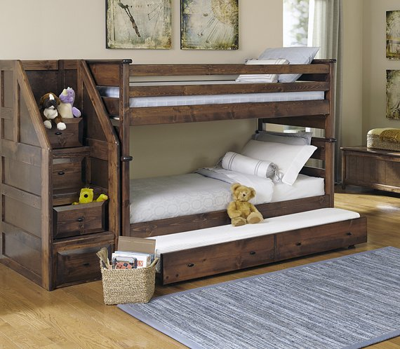 Picture of a boys bunk bed