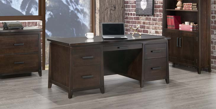 handstone solid wood desk