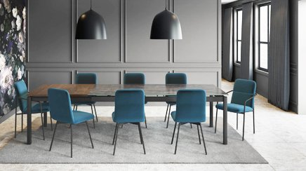 glass or metal dining tables